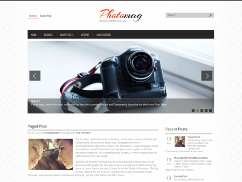 PhotoMag Free WordPress Theme