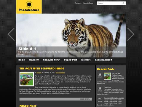 PhotoNature WordPress Theme