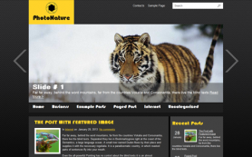 PhotoNature Free WordPress Theme