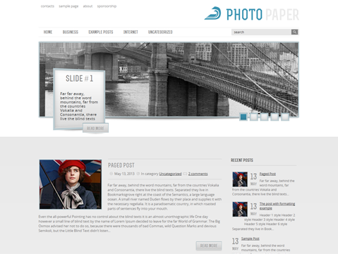 PhotoPaper WordPress Theme