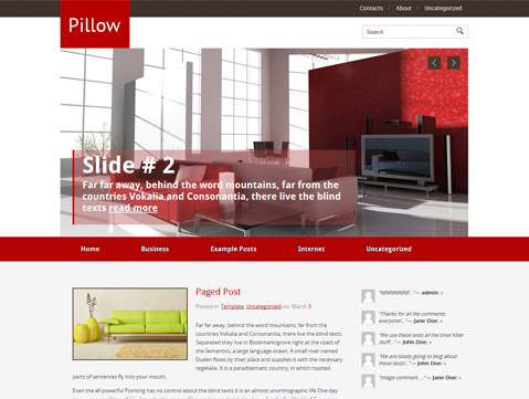 Pillow Free WordPress Theme