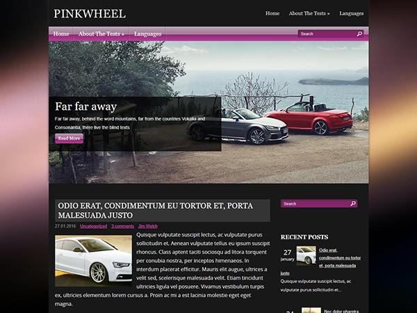PinkWheel Free WordPress Theme