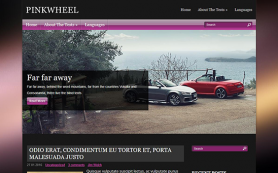 PinkWheel Free WordPress Theme