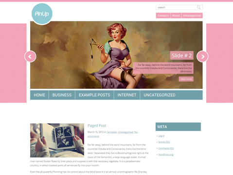PinUp WordPress Theme