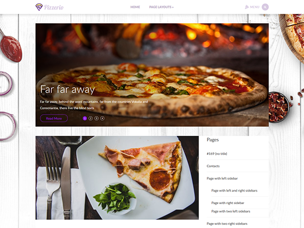 Pizzerio Free WordPress Theme