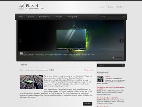 Planshet WordPress Theme