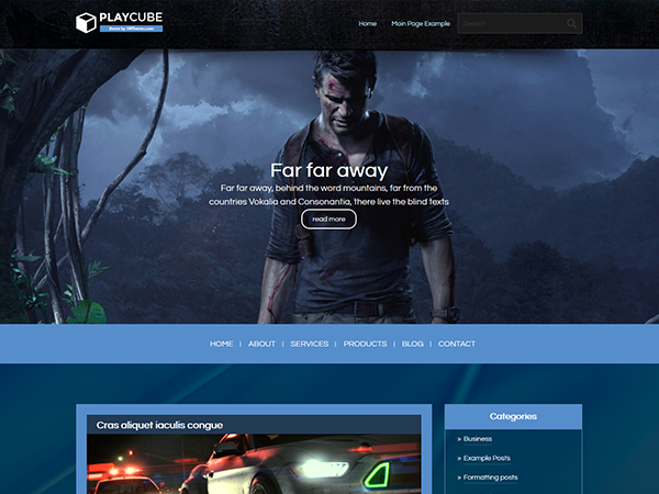 PlayCube Free WordPress Theme