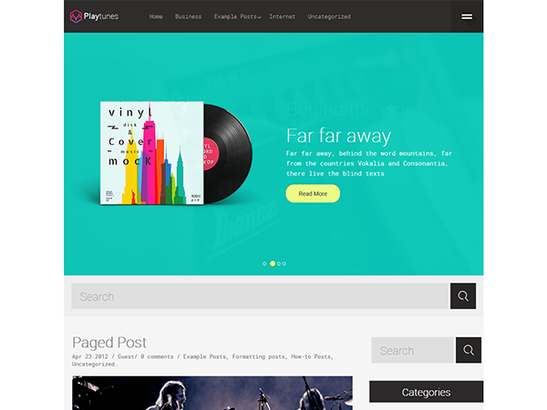 Playtunes WordPress Theme
