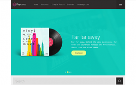 Playtunes Free WordPress Theme
