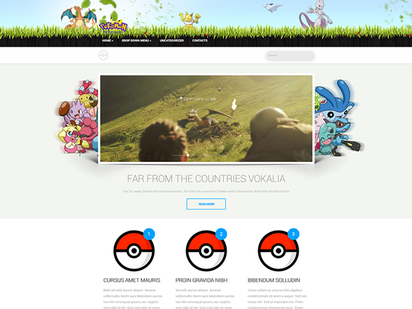Pokemon WordPress Theme