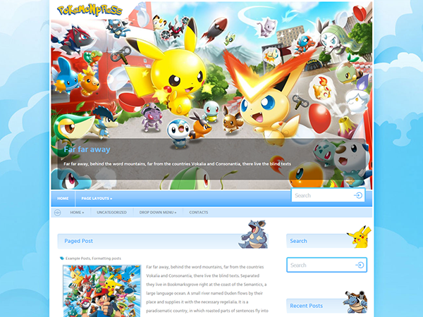 PokemonPress Free WordPress Theme