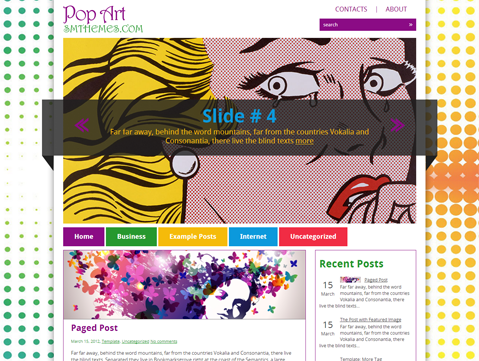 PopArt Free WordPress Theme