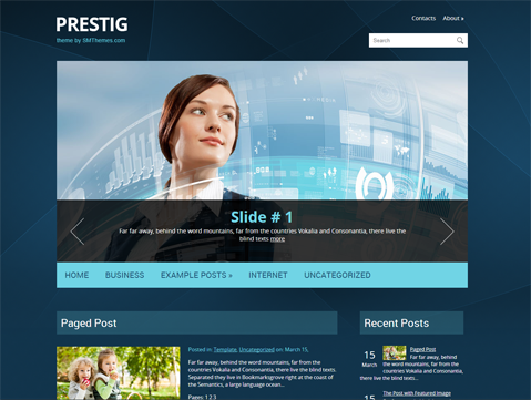 Prestig Free WordPress Theme