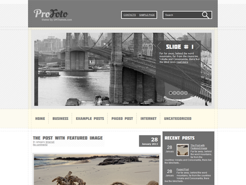 ProFoto Free WordPress Theme