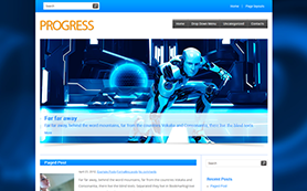 Progress Free WordPress Theme