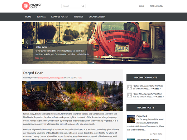 ProjectCars WordPress Theme