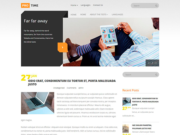 ProTime Free WordPress Theme