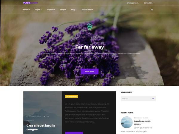 PurpleGarden WordPress Theme