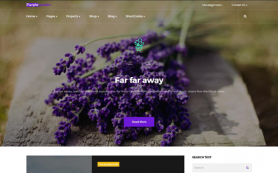 PurpleGarden Free WordPress Theme