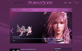 PurpleQuest Free WordPress Theme