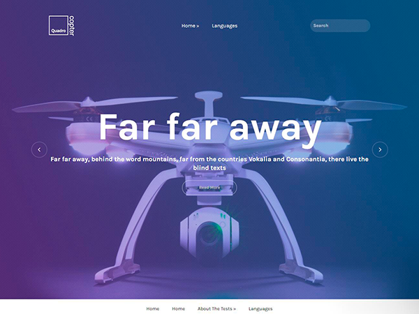 QuadroCopter WordPress Theme