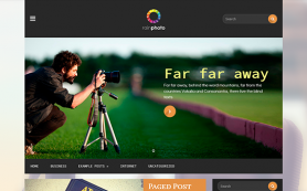 Rainphoto Free WordPress Theme