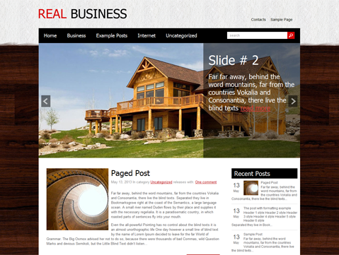 RealBusiness WordPress Theme