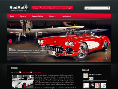 RedAuto Free WordPress Theme