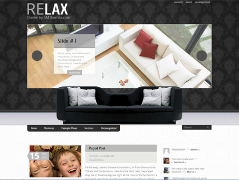 Relax Free WordPress Theme