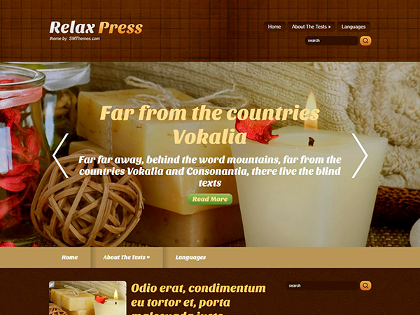 RelaxPress WordPress Theme