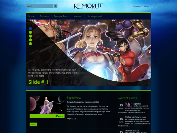 Remorut Free WordPress Theme