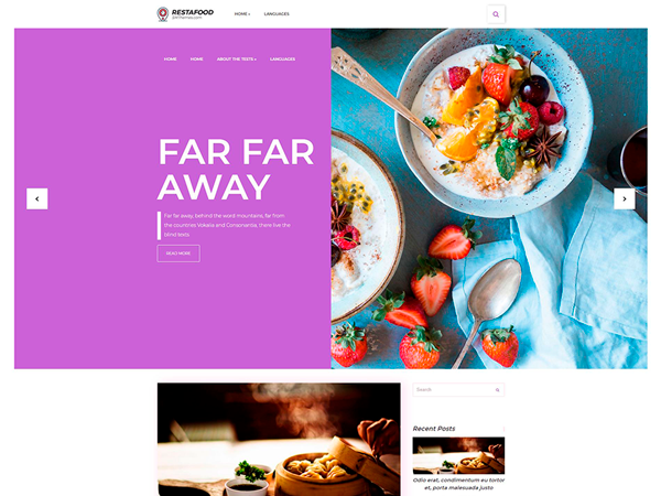 RestaFood Free WordPress Theme