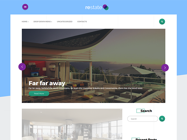 Restate Free WordPress Theme