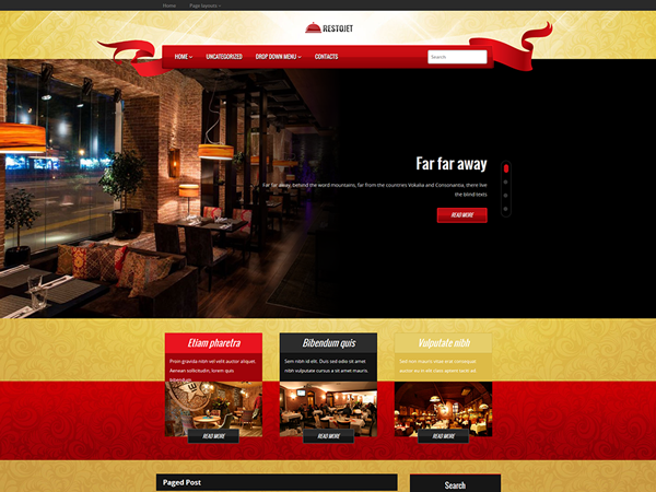 RestoJet Free WordPress Theme