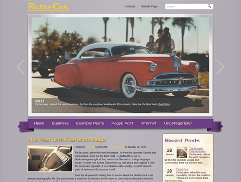 RetroCar WordPress Theme