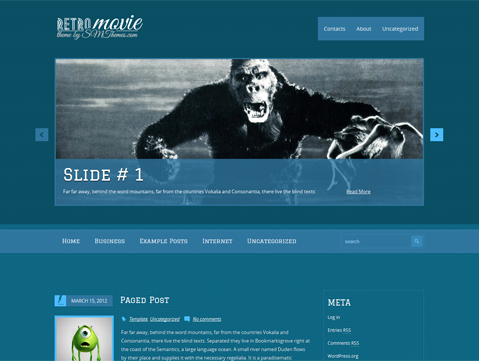 RetroMovie WordPress Theme