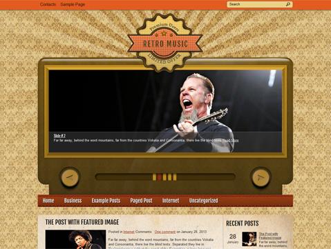 RetroMusic Free WordPress Theme