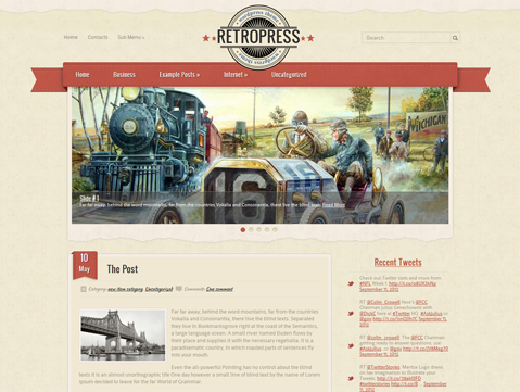 RetroPress Free WordPress Theme