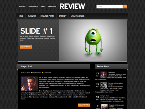 Review Free WordPress Theme