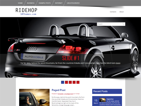 Ridehop Free WordPress Theme