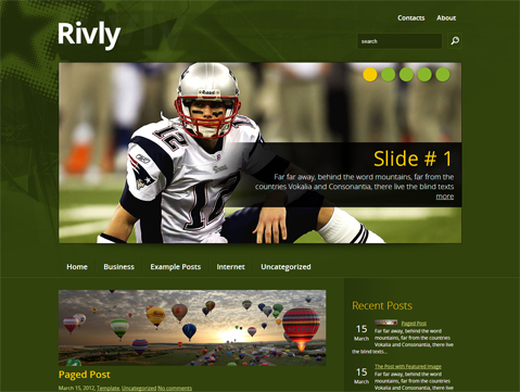 Rivly Free WordPress Theme