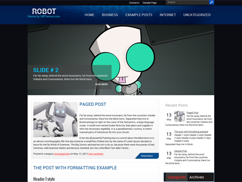 Robot Free WordPress Theme