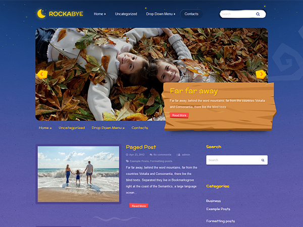 Rockabye Free WordPress Theme