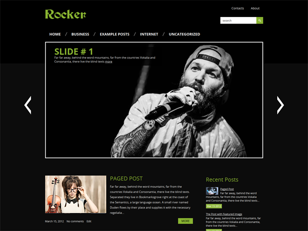 Rocker Free WordPress Theme