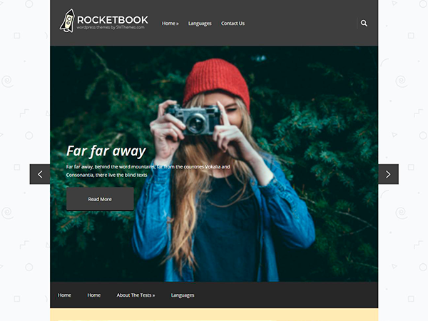 RocketBook Free WordPress Theme