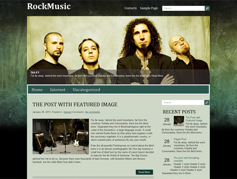 RockMusic Free WordPress Theme