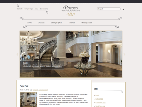 Rococo Free WordPress Theme