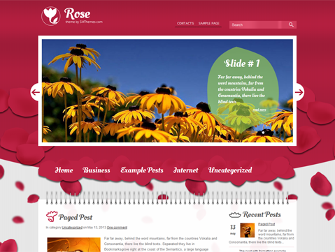 Rose Free WordPress Theme