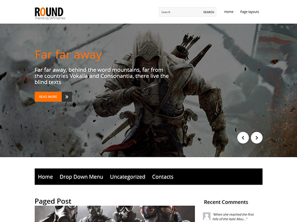 Round Free WordPress Theme