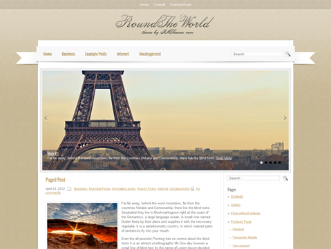 RoundTheWorld WordPress Theme